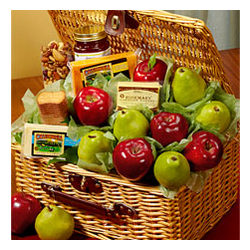 Deluxe Fruit Grove Picnic Gift Basket