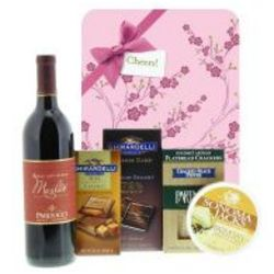 Tempting Treats with Merlot and Blossom Gift Wrap