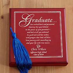Personalized Graduation Wood Keepsake Box