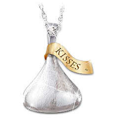 Hershey's Kiss Daughter Diamond Pendant Necklace