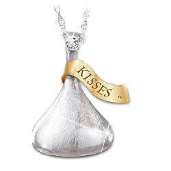 Hershey's Kiss Daughter Diamond Pendant Necklace