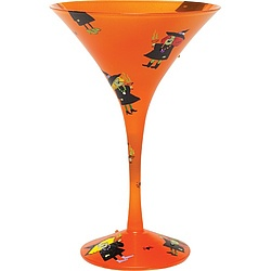 Witches Party Martini Glass