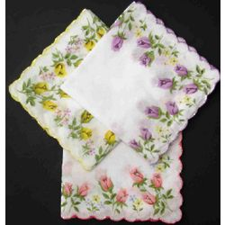 Women's Printed Flower Handkerchiefs