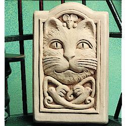 Celtic Cat Hand Cast Stone Plaque