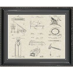 Firefighting Equipment Framed Patent Art