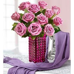 Wrapped in Your Love Purple Rose Bouquet