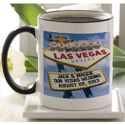 Personalized Welcome to Las Vegas Coffee Mug