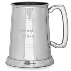 Classic Personalized Glass Bottom Pewter Tankard