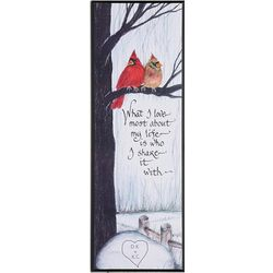 What I Love Most Cardinal Couple Personalized Plaque