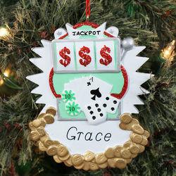 Personalized Gambling Ornament