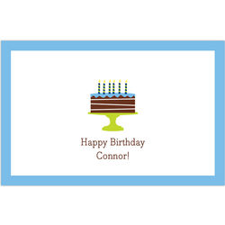 Blue Birthday Cake Disposable Placemats