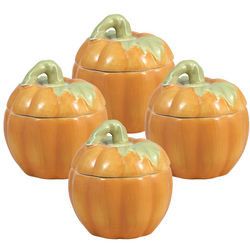 Pumpkin Shaped Covered Dishes