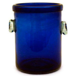 Midnight Blue Recycled Blown Glass Ice Bucket