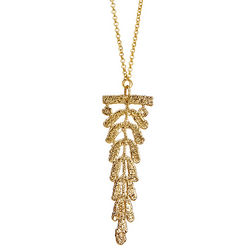 Gold Dipped Vine Lace Necklace