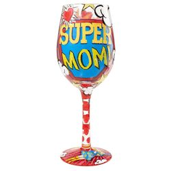 Super Mom Wine Glass