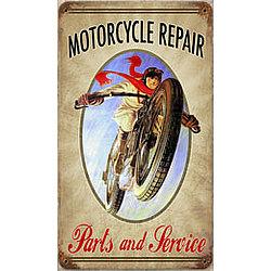 Motorcycle Repair Metal Sign