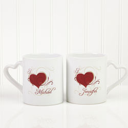 Heart to Heart Personalized Coffee Mug Set