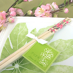 Cherry Blossom Chopsticks Wedding Favor