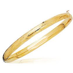 Prince and Princesses Childrens Braided Bangle in 14K Yellow Gold