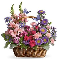 Country Basket Blooms Bouquet