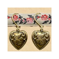 Clover Heart Earrings