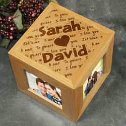 Personalized I Love You Photo Cube