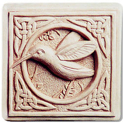 Celtic Hummingbird Hand Cast Stone Plaque