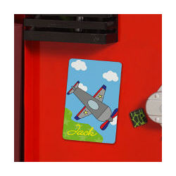 Personalized Airplane Locker Magnet