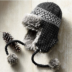 Faux Fur Knit Hat