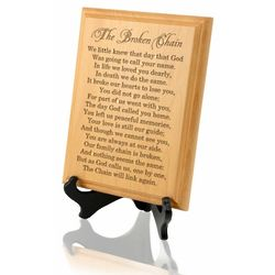The Broken Chain Wooden Plaque