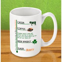 Personalized Irish Coffee Mug