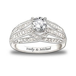 Personalized Always Loving You Topaz Women's Ring