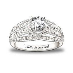 Personalized Always Loving You Topaz Women's Ring