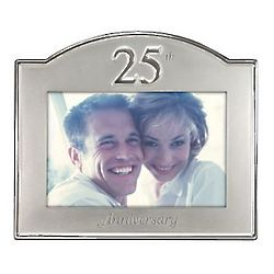 25th Anniversary Aluminum Picture Frame