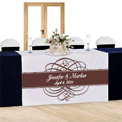 Personalized Royal Flourish Table Runner