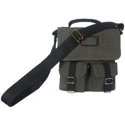 Black Fort Worth Utility Messenger Bag