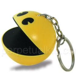 Pac-Man Talking Keychain