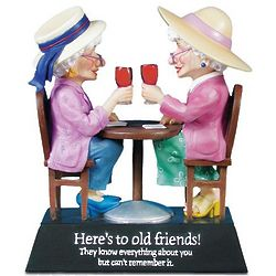 Here's to Old Friends Figurine