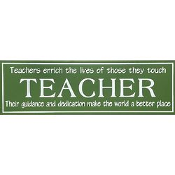 Teacher Expression Wooden Plaque
