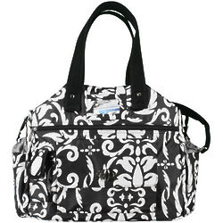 Black and White Paisley Tennis Tote