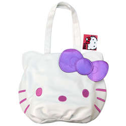 Hello Kitty White and Pink Tote Bag with Purple Bow