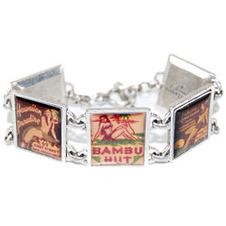 Silver-Plated Retro Hawaiian Bracelet