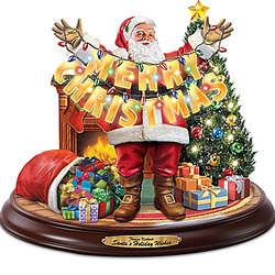 Musical Christmas Santa Sculpture