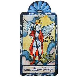 San Miguel the Archangel Michael Patron Saint Retablo Plaque