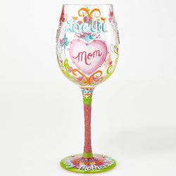 I Love You Mom Mother's Day Wine Glass