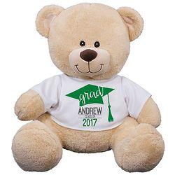Sherman Bear with Personalized Graduation Cap T-Shirt