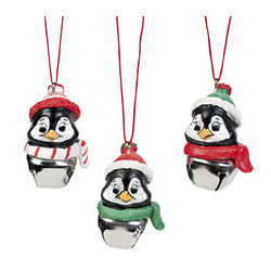Penguin and Jingle Bell Necklaces