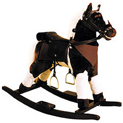 Pinto Plush Rocking Horse with Sound