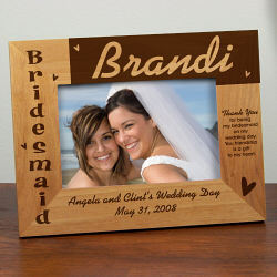 Bridesmaid Picture Frame