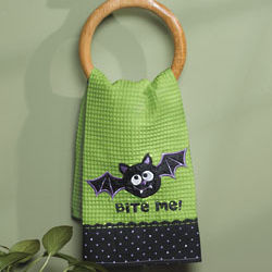 Halloween Bite Me! Bat Hand Towel